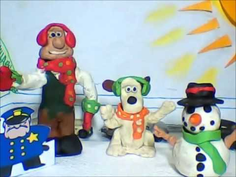 Wallace and Gromit- Christmas Winter Wonderland Claymation