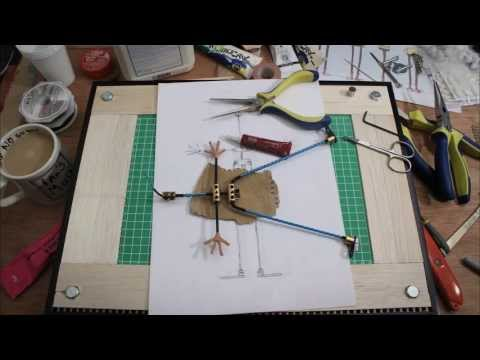 Stop motion wire armature construction
