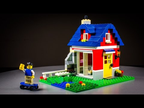 LEGO Creator Small Cottage Stop Motion Animation Build.