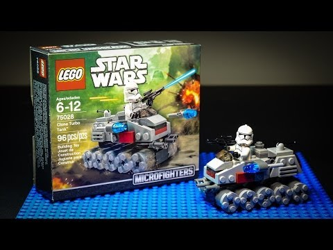 LEGO Star Wars Clone Turbo Tank Stop Motion Animation Build.