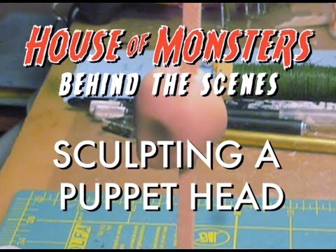 House of Monsters Behind the Scenes: Sculpting a Head