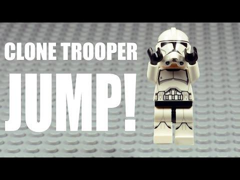 LEGO Clone Trooper Learn How To Jump!