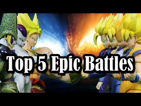 Top 5 Epic Battles of 【Stop Motion Dragon Ball】