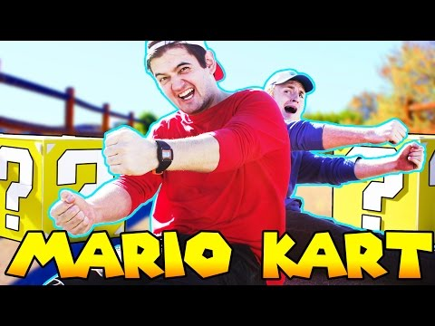 Stop Motion MARIO KART! (w/ people)