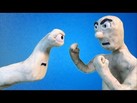 Stop Motion Alien Battle (Claymation battle) please watch and subscribe