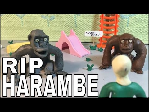 CLAYMATION RIP HARAMBE VIDEO (stop motion)