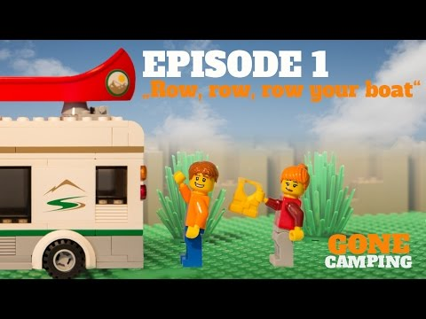 """Row, row, row your boat"" - GONE CAMPING Episode 1 LEGO"