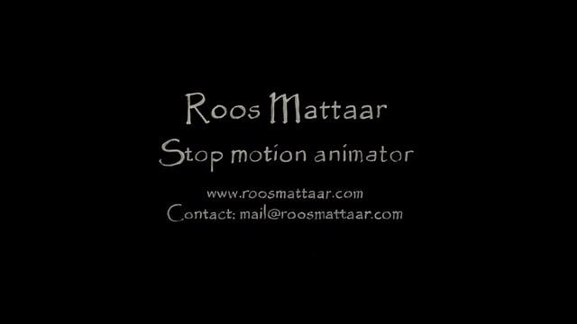 Roos Mattaar stop motion showreel 2017