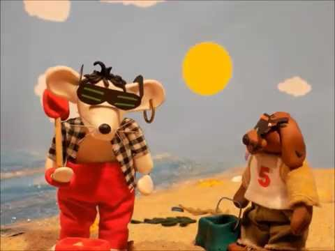 Stop Motion Animation ZEY THE MOUSE Episode 3 'A Trip To The Seaside'  Fimo animals