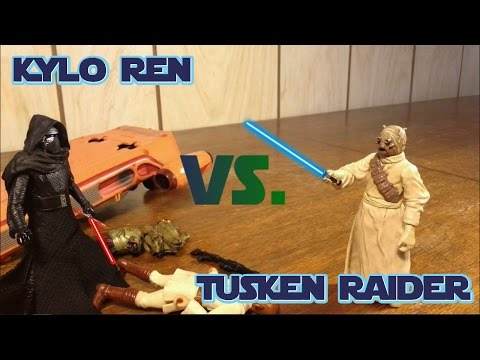 Kylo Ren Vs. Tusken Raider Stopmotion