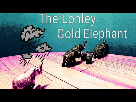 The Lonley Gold Elephant | Stop Motion