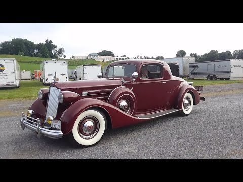 1937 Packard Twelve 1507 2/4 Passenger Coupe Driving To the Show Field