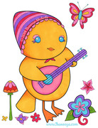 Chick Playing Ukelele by Thaneeya McArdle