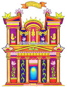 Treasury at Petra Coloring Page Art by Thaneeya McArdle