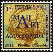 "Mail Art "" Nuestro Planeta"" AGUA DE VIDA"
