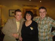 Leonard, Carmel and Finian Gunning enjoying a nigh