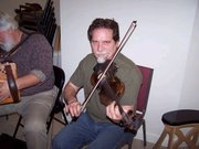 Playing fiddle with Mike Dugger