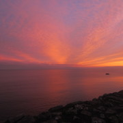 sunset on Galway Bay