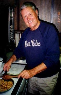 My dad, George Soper, frying corn