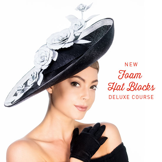 c0e5da1a1 Foam Hat Blocks Deluxe Course – How To Make Hats Millinery Classes | Hat  Academy