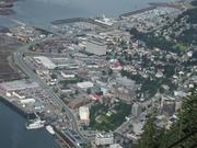 Downtown Juneau from Mt. Roberts peak