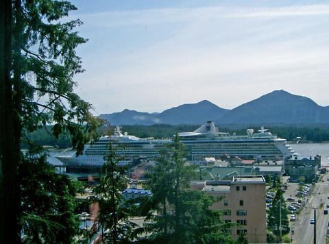 Ships docked in Ketchikan
