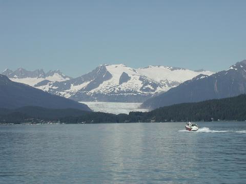 Mendenhall Glacier from Auck Bay