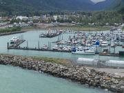 One of several small boat harbors in the Juneau area