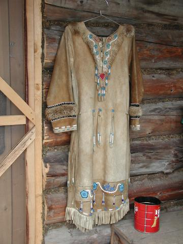 Athabascan leather dress
