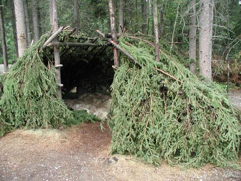 Primitive Native American shelter