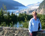 Peggy Atkinson at Mendenall Glacier 2009