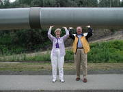 David & Kathy at Fairbanks pipeline