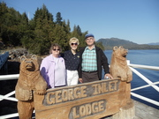 Mike & Kathy Suiter & I at George Inlet Lodge