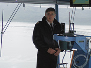 Capt. Poggi at Controls
