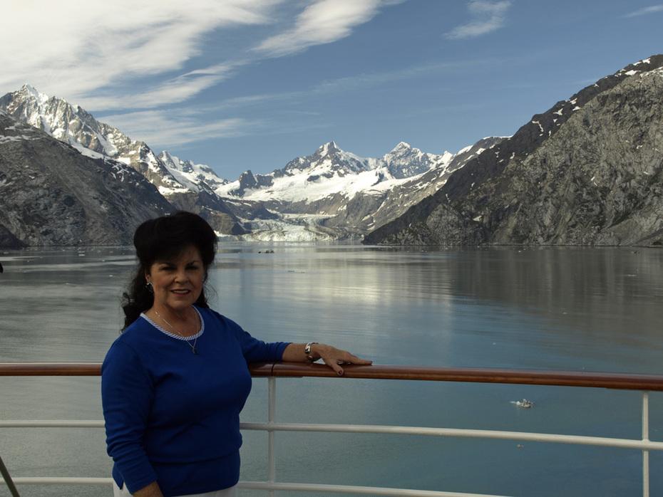 Shirley Schmit by Johns Hopkins in Glacier Bay - 2011