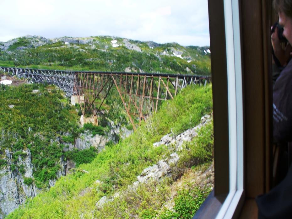Narrow Gauge RR bridge -- White Pass near Skagway