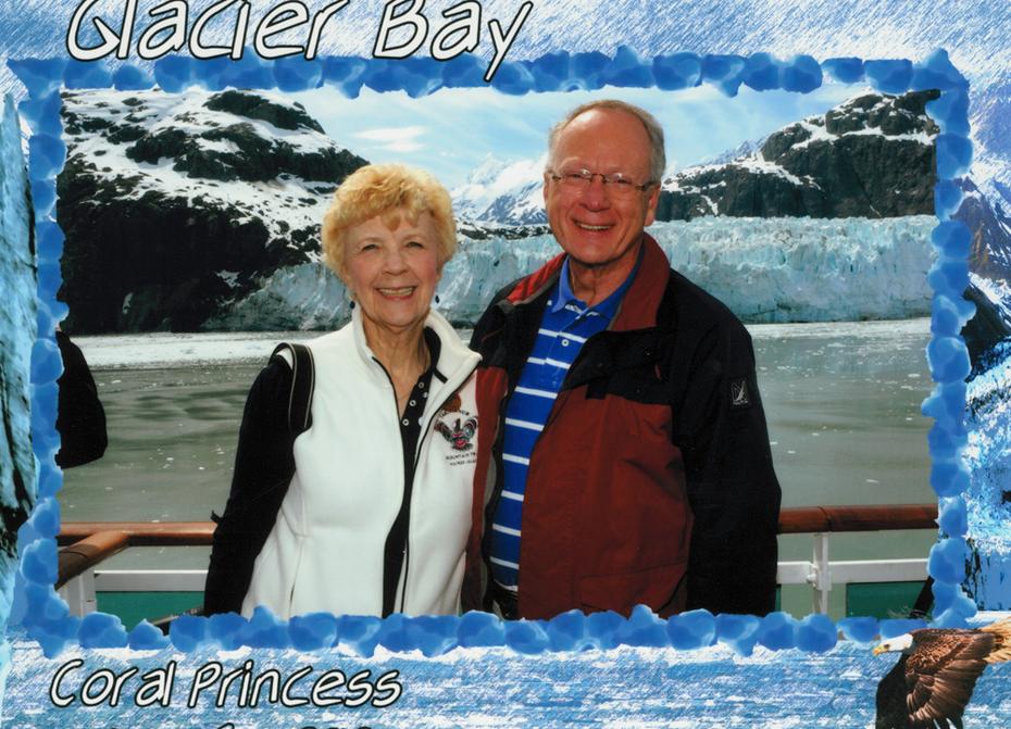 David & I at Glacier Bay, June 6