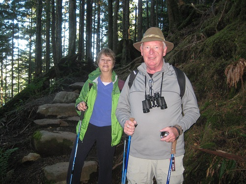 us on Rainbird trail, Ketchikan