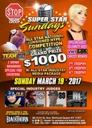 MARCH 19,2017 SUPER STAR SUNDAYS ALL STAR NATIONAL UNSIGNED HYPE $1000 COMPETITION /HOSTED BY VH-1 LOVE AND HIP HOP CELEBRITY CHRISSY MONROE AND BONUS CYPHER AT RUFF RYDERS STUDIOS