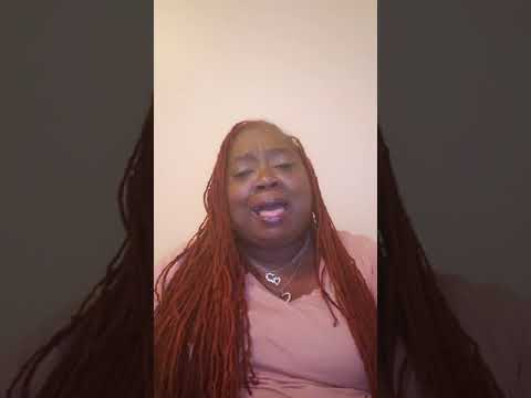 Simply T singing I'm Still Holding On by Luther Barnes
