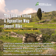 The Lefkes Valley & Byzantine Trail Sunset Hike + Picnic