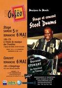 Duvone Stewart (Trinidad et Tobago) STAGE  ET CONCERT DE  STEEL DRUMS