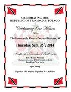 CELEBRATING THE REPUBLIC OF TRINIDAD & TOBAGO -  With The Honorable Kamla Persad-Bissesar