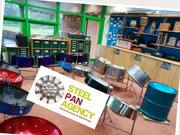 All day Steelpan Workshop today at a primary school in Gloucester