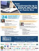 Foro: Transformando la Educación en Puerto Rico