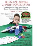ALL-IN for AUTISM Poker Tournament Saturday March 27th 6pm