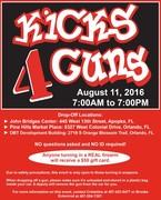 Kicks for Guns: $50 gift card for a gun