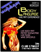 Body Language. Live Art, Music, & Body Painting, & Poetry.