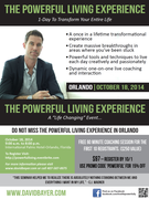 Powerful Living Experience Orlando, October 18th