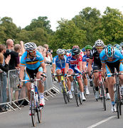 Olympic Road Races and Time Trials through Bushy Park